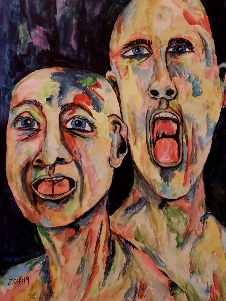 """The earth opened. Swallowing their friends and family... all they could do was scream """"NO""""."""