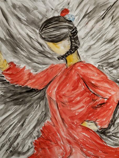 Flamenco in Ronda, Spain Aka red swirls of raw emotion