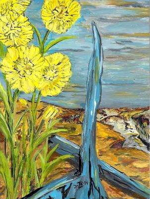 Blooms Along the Shore of an Empty Ocean