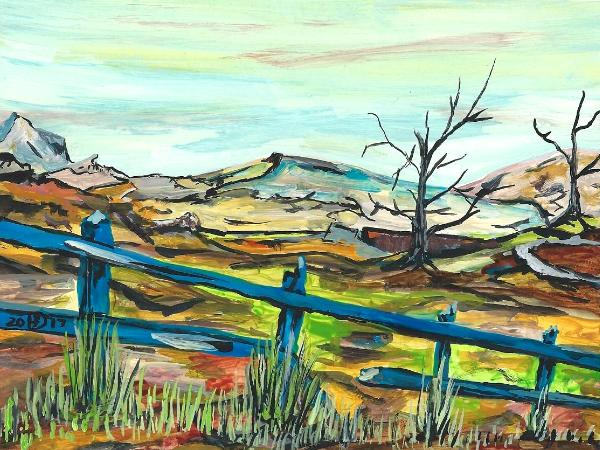 The Disturbing Price of Emptiness. © 2017 By Duane Kirby Jensen, 6 x 8 ink on Claybord