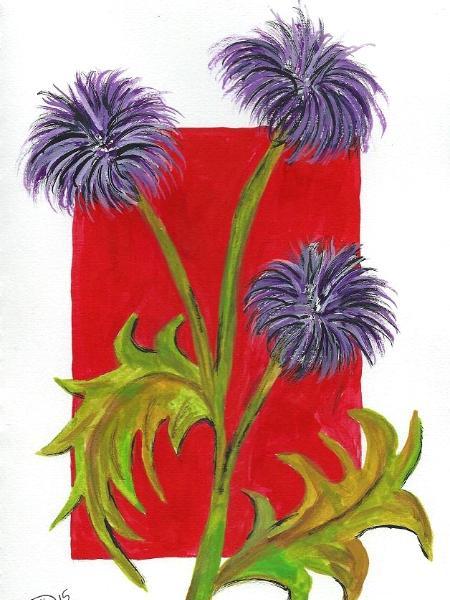 "Kohaku # 83 © 2015 By Duane Kirby Jensen, 7 x 10"", Ink on paper"