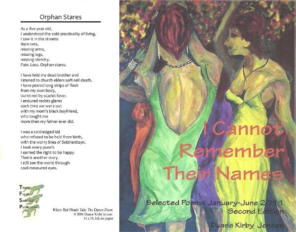 I Cannot Remember Their Names - Second Edition (New cover and layout)