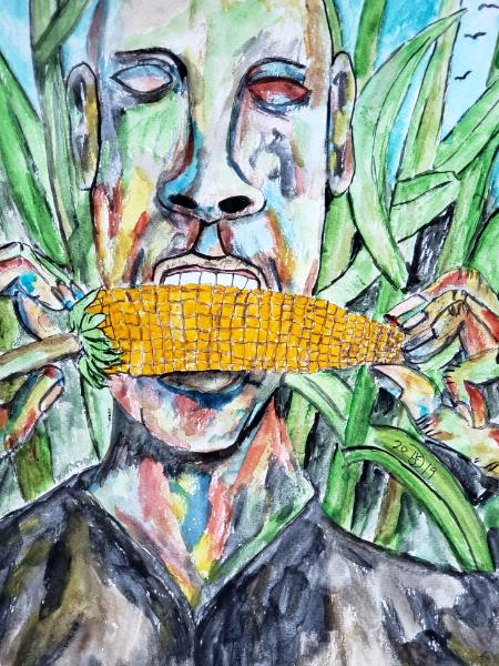 He never realized how good raw corn could be until necessity and luck lead him to this corn field.