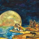 Sea lions Bark the Moon Up